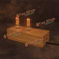Винтажный ностальгический двойной Эдисон лампы настольная лампа журнала прикроватные украшения