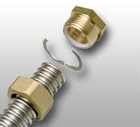 Комплект концевого фитинга FixLock для подключения трубы InoFlex к резьбовому соединению ВР