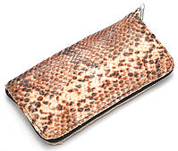 Удобный кожаный чехол-футляр для телефона с узором рептилии на молнии big (100658)