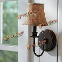 В американском стиле античной краткая белья железный настенный светильник прикроватный проход света