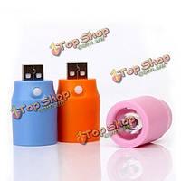 USB Автомобильное зарядное устройство для зарядки сокровище LED внешний фонарик с выключателем, фото 1
