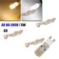 G9 5w белые/теплые белые 64 SMD 3014 85-265V LED лампочка зерна, фото 1
