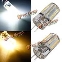 Г4 LED Лампа 3W 64 Сид SMD 3014 теплый белый/белый AC 85-265в кукурузы света, фото 1