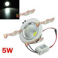 5w LED удара LED потолок вниз свет-серебро раковина Ременный привод 85-265в