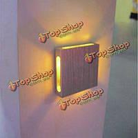 3вт четырех сторон алюминиевая квадратная фоне LED настенный светильник 110-220В, фото 1