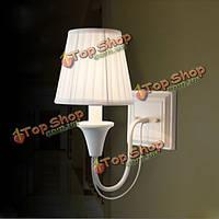 Американский стиль ткань настенный светильник для спальни прикроватные лампы проход света