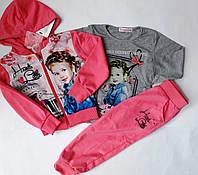 Костюм для девочки тройка Crossfire  р.98-128. Детские спортивные костюмы оптом.