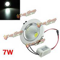 Удара 7W LED потолок вниз свет-серебряная раковина Ременный привод 85-265в