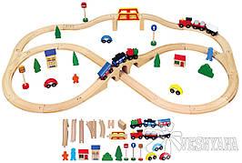 Игрушка Viga Toys  Железная дорога (49 деталей) 56304