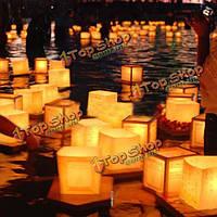 Китайский квадрат бумаги желающих реки плавающие свечи фонари лампы света