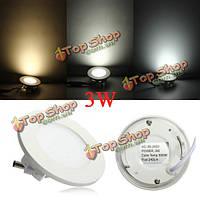 3W круглый потолка ультратонкие панели LED Светильники лампы свет 85-265в