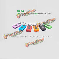 Nextorch gl10 микро-USB rechargerable LED брелок свет шесть цвет