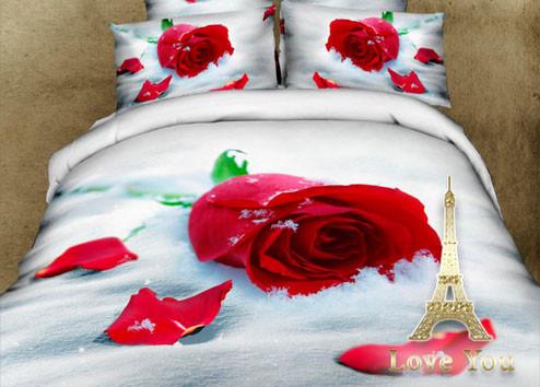 Комплект постельного белья Полуторный 3D Сатин 160Х220 Верность stp 254