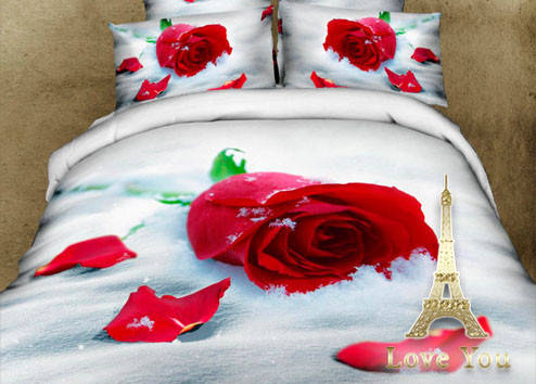 Комплект постельного белья Полуторный 3D Сатин 160Х220 Верность stp 254, фото 2