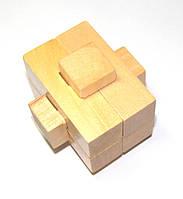 Головоломка деревянная Крест асимметричный
