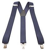 Мужские подтяжки-резинка темно синего цвета У образные (101936)