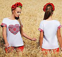 """Молодежная блузка с принтом """"Сердце"""", фото 1"""