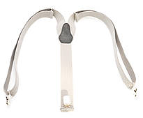 Мужские подтяжки-резинка светло серого цвета У образные (100395)
