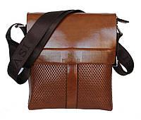 Чоловіча стильна і зручна сумка руда Е-54174К