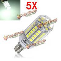 5X Е14 6 Вт белый свет 700lm 59 LED SMD5050 LED кукурузы лампочки лампы ac220-240В