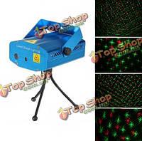 Мини R & г лазерный свет освещение проектор портативный DJ дискотека этап свет