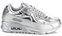 Стильные и модные серебристые женские кроссовки