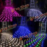 LED Чистая свет 1.5mx 1.5m 100 LED с Xmas гирлянды ЕС Plug 220В