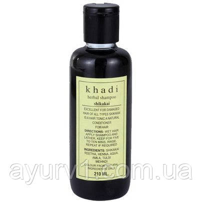 Шампунь травяной Шикакай . Кхади /Herbal Shampoo Shikakai /Khadi/210 мл.