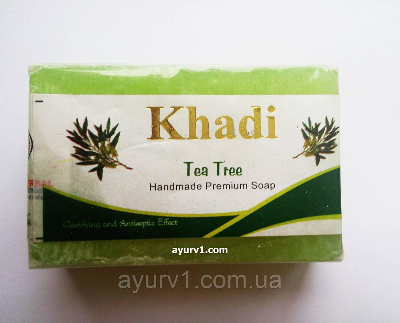 Мыло ручной работы Чайное дерево   , Кхади / 125
