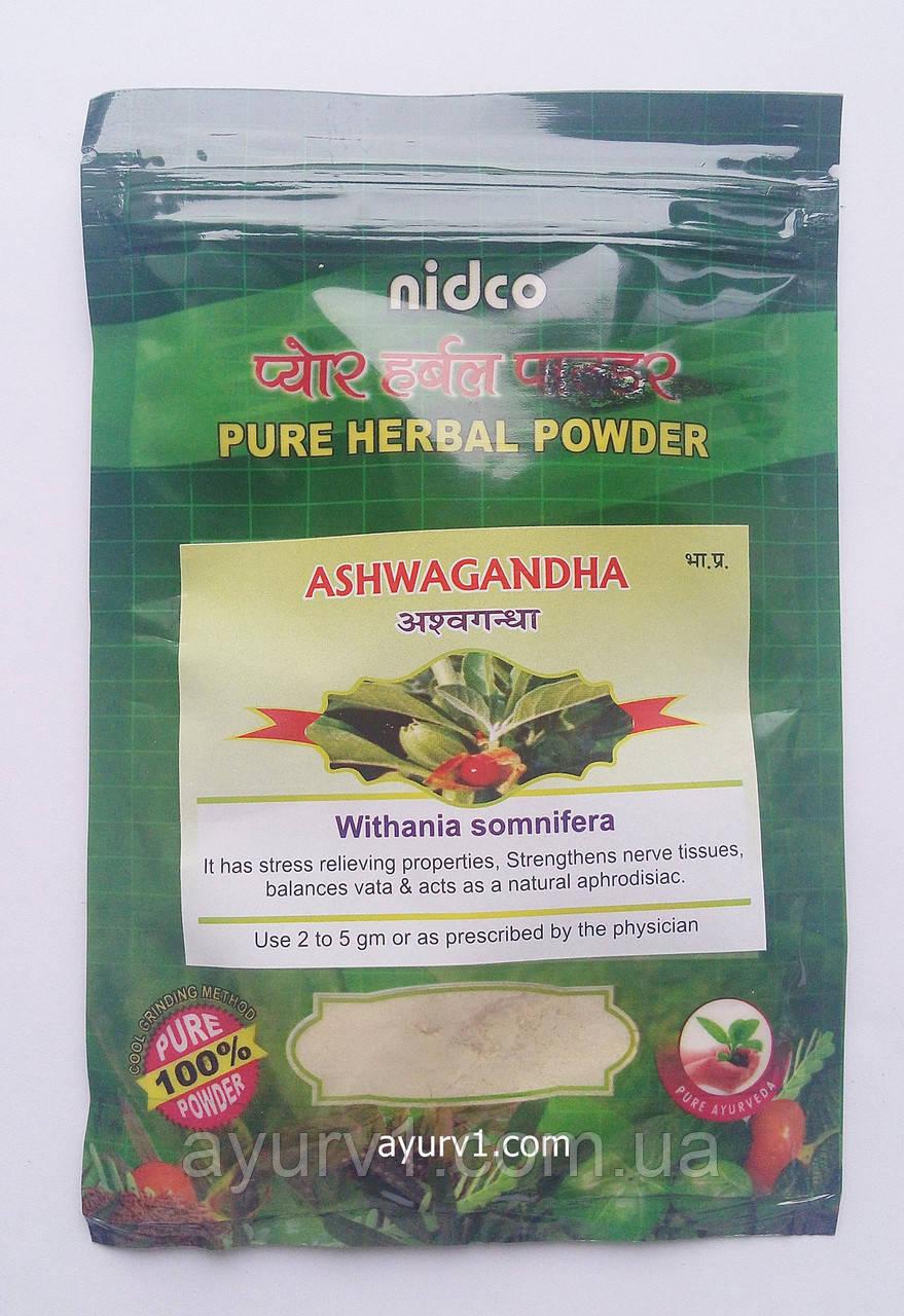 Ашвагандха порошок, Чурна, Нидко / Ashvagandha, Churna, Nidco / 50 g