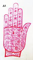 Багаторазові трафарети на кисті руки для мехенді