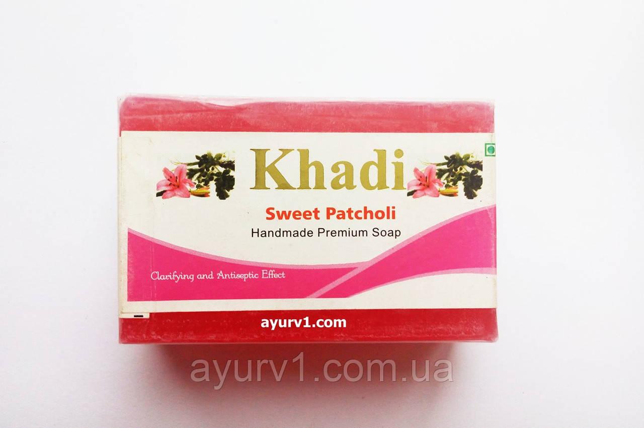 Мыло ручной работы  Кхади, Sweet Patchouli / 125 gr