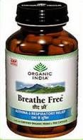Капсули Свободное дыхание, Органик Индия, Breathe free,  Organic India, 60 кап