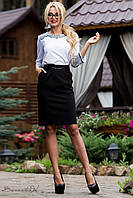 Женская классическая юбка с карманами