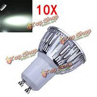 10X затемнения GU10 9 Вт 600lm LED чисто белый свет LED пятно лампы 220В