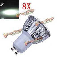 8X затемнения GU10 9 Вт 600lm LED чисто белый свет LED пятно лампы 220В