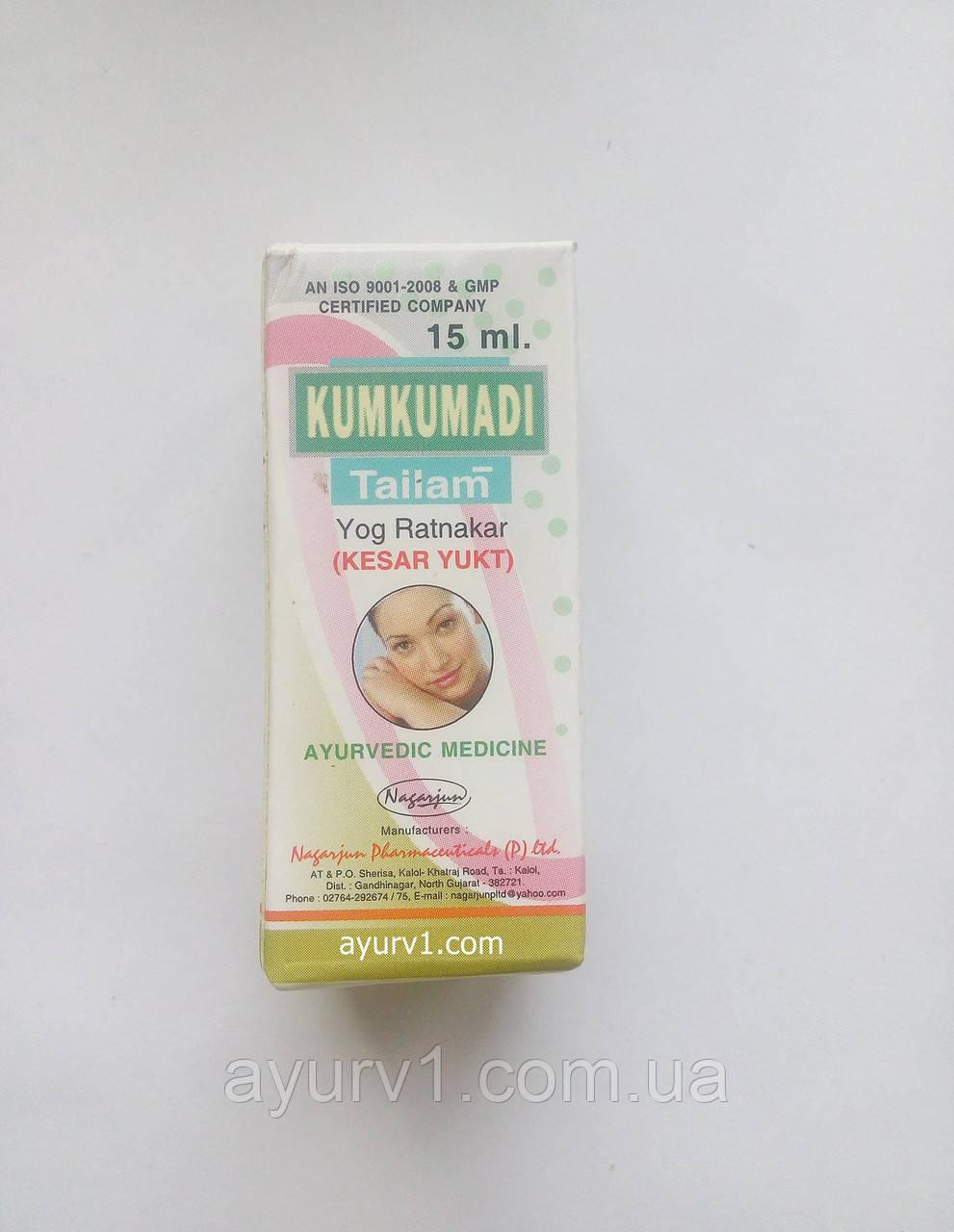 Масло для лица Кумкумади Тайлам /Kumkumadi Tailam 15 gm