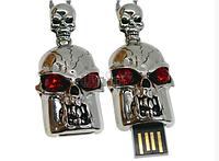 Флешка 8 гб USB 2.0 череп металл