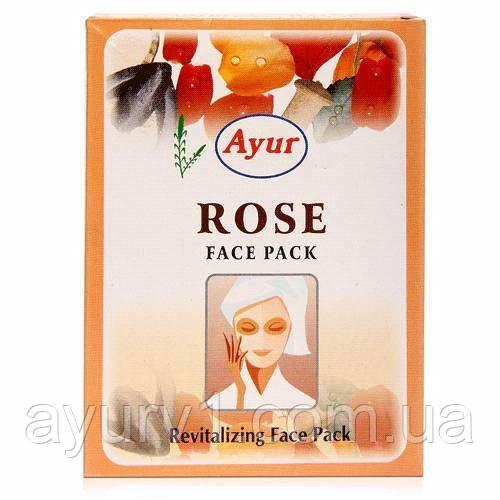 Восстанавливающая маска для лица с розой, Кхади / Revitalizing Face Pack, Rose, Khadi / 25 g