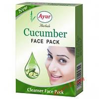 Маска для лица с огурцом, Кхади / Face pack, Cucumber, Ayur, Khadi от угревой сыпи, пигментных пятен