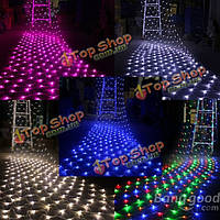 LED NET свет Рождественские 4.2mx 1.6m 300Leds Xmas 220В AC сказочных огней