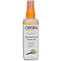 Дезодорант - спрей Кристал, Ромашка и Зелений чай / Crystal Essence Mineral Deodorant Body Spray / 118 ml
