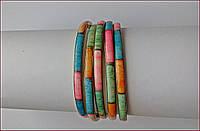 Набор браслетов с латуни и слоновой кости 5 шт (Индия).