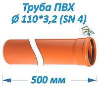 Труба ПВХ 110*3,2*500 мм