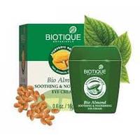 Успокаивающий и питательный крем под глаза Biotique, Bio Almond, Био Миндаль