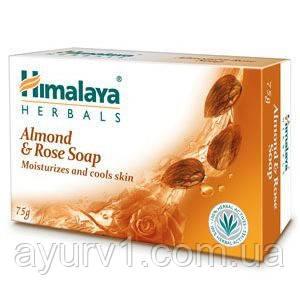 Мыло увлажняющее с миндалем / Almond & Rose, Himalaya / 75 gr