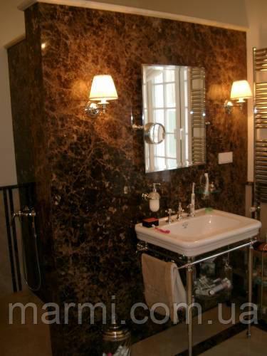 ванная комната мрамор Имперадор Дарк