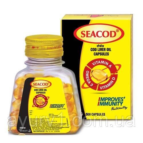 Масло печени трески / 110 капс. Seacod