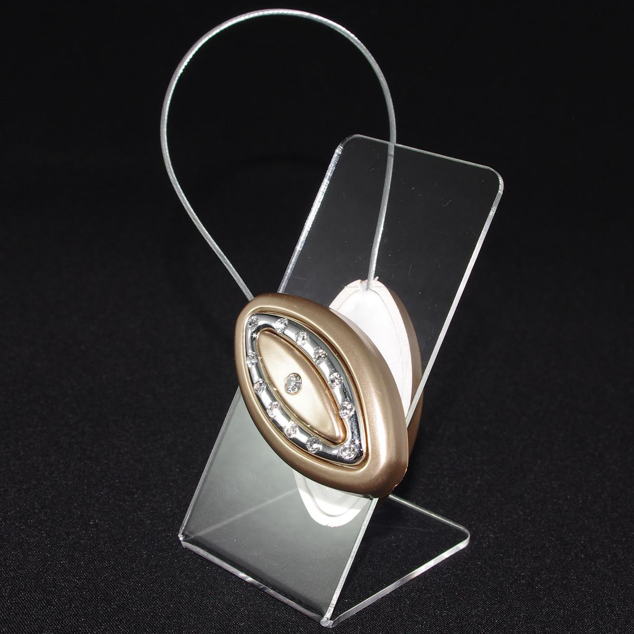 Декоративный магнит подхват держатель дляштор и тюлей на тросике 67-101