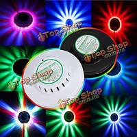 8w 48 LED автомобилей активированное голосом rgb рождественское сценическое освещение ди-джея дискотеки стороны